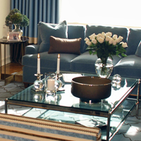 New York Warm Color Palette Welcomes Family and Friends by Peter Balsam Associates