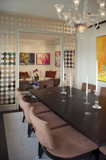 art collector's dining room interior design