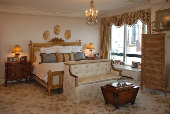 bedroom interior in grand tradition