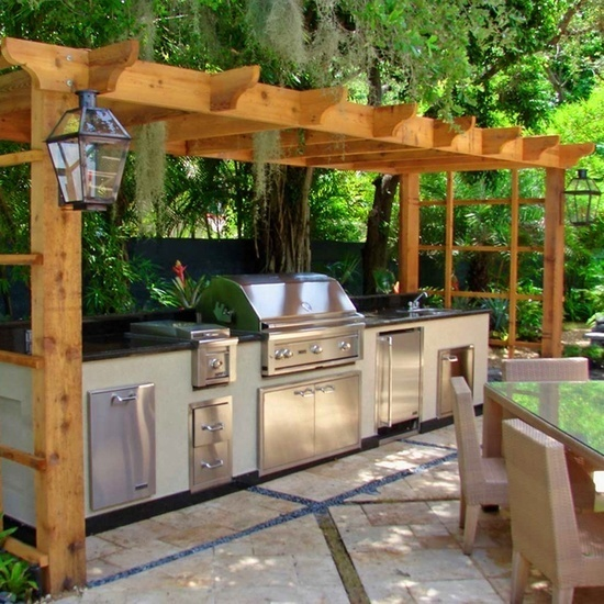 Outdoor Cooking Area The Countertop Next To Grill Is At Least 24 Inches Wide There S 18 On Each Side Of Sink And 15
