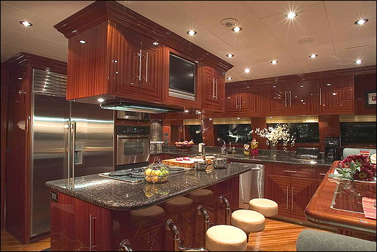 Stainless Steel Appliances And Marble Countertops Make This Space A World  Class Kitchen For Fine Dining On The High Seas!