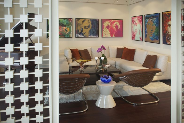 art collectors livingroom interior design