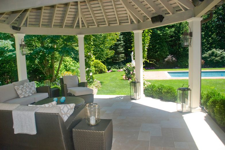 Porch of East Hampton home