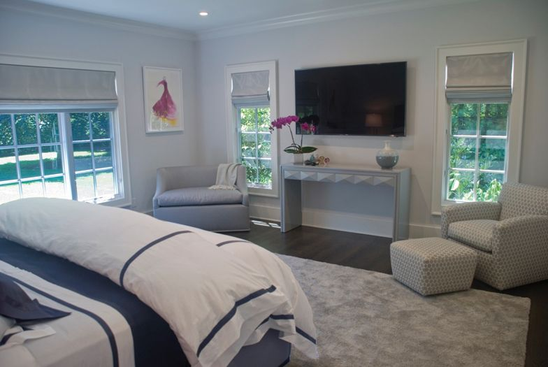 Master bedroom interior design by The Balsam Group