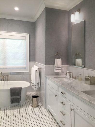 East Hampton Master Bath interior design by The Balsam Group