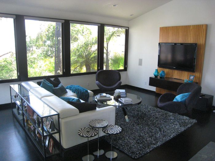 Hollywood Hills Media Room Interior Design