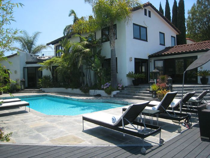 Hollywood Hills Outdoor Pool Area Design