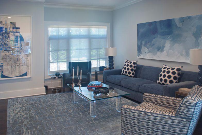 East Hampton Den - interior design by The Balsam Group