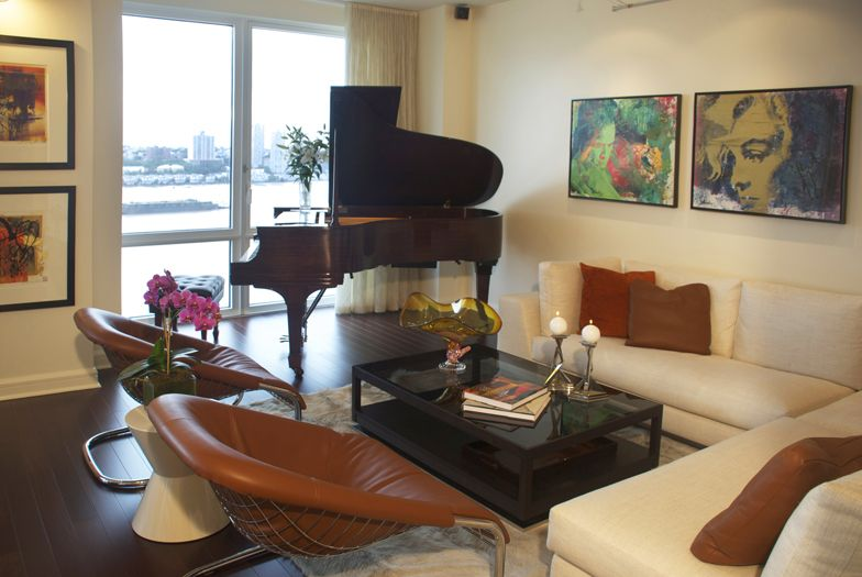 livingroom interior design for art collectors in new york