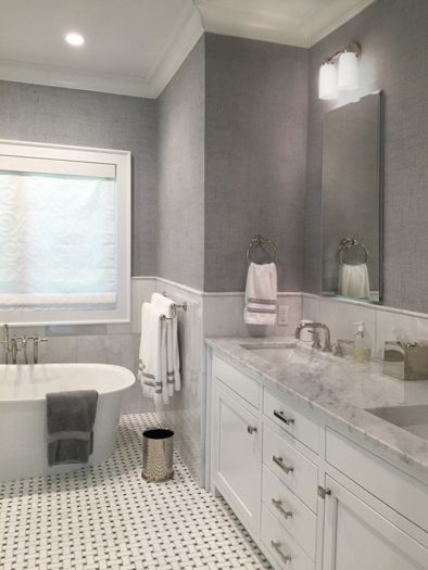 East Hampton Master Bath interior design by The Balsam Group