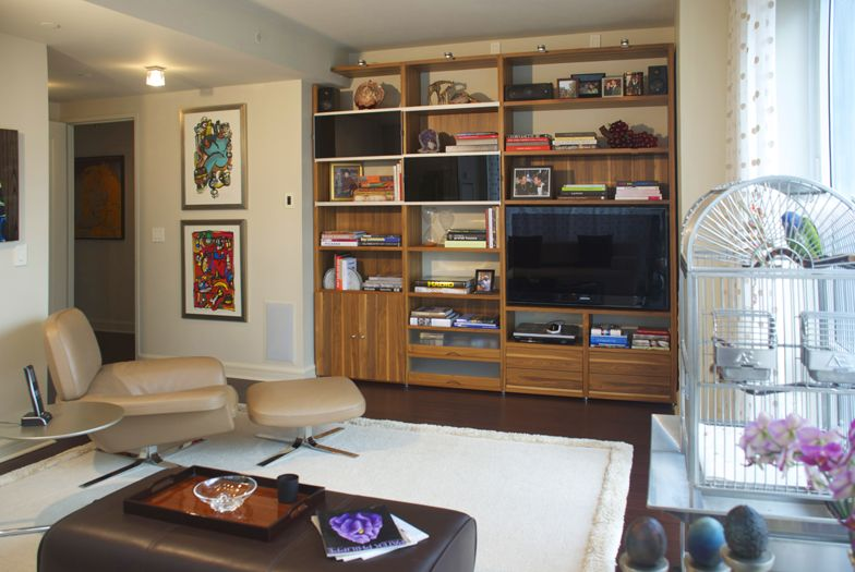 new york den interior design for art collectors