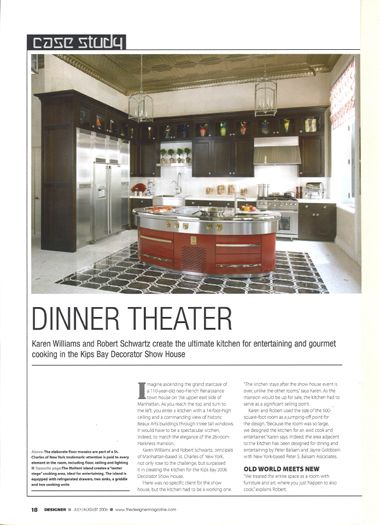 Designer Magazine features Peter S. Balsam Associates