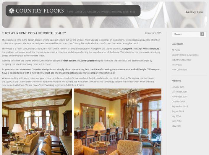 Tudor Castle Restoration blog on Country Floors