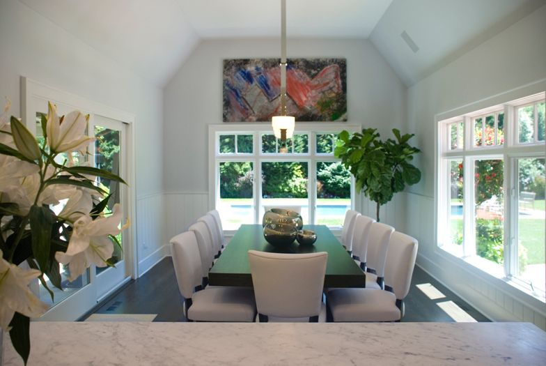 East Hampton dining room interior design by The Balsam Group