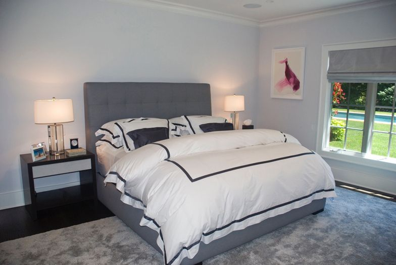 East Hampton Master Bedroom - interior design by The Balsam Group