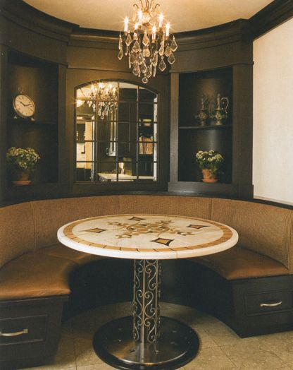 Kitchen banquette design traditional new york