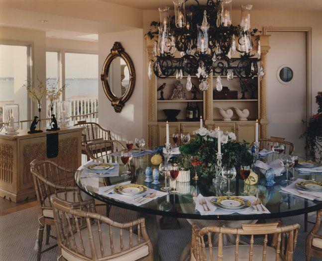diningroom ocean view interior design southampton new york