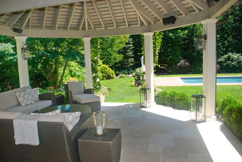 Porch of East Hampton home