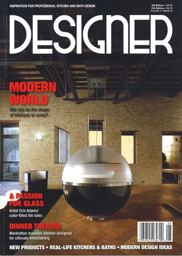 Designer Magazine Cover features Peter S. Balsam Associates
