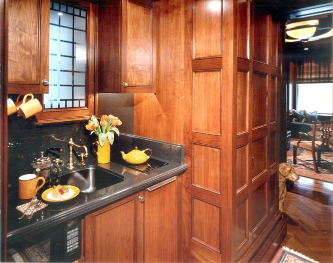 Kitchen interior in english style for new yorker