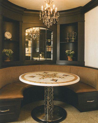 Kitchen banquette design traditional new york